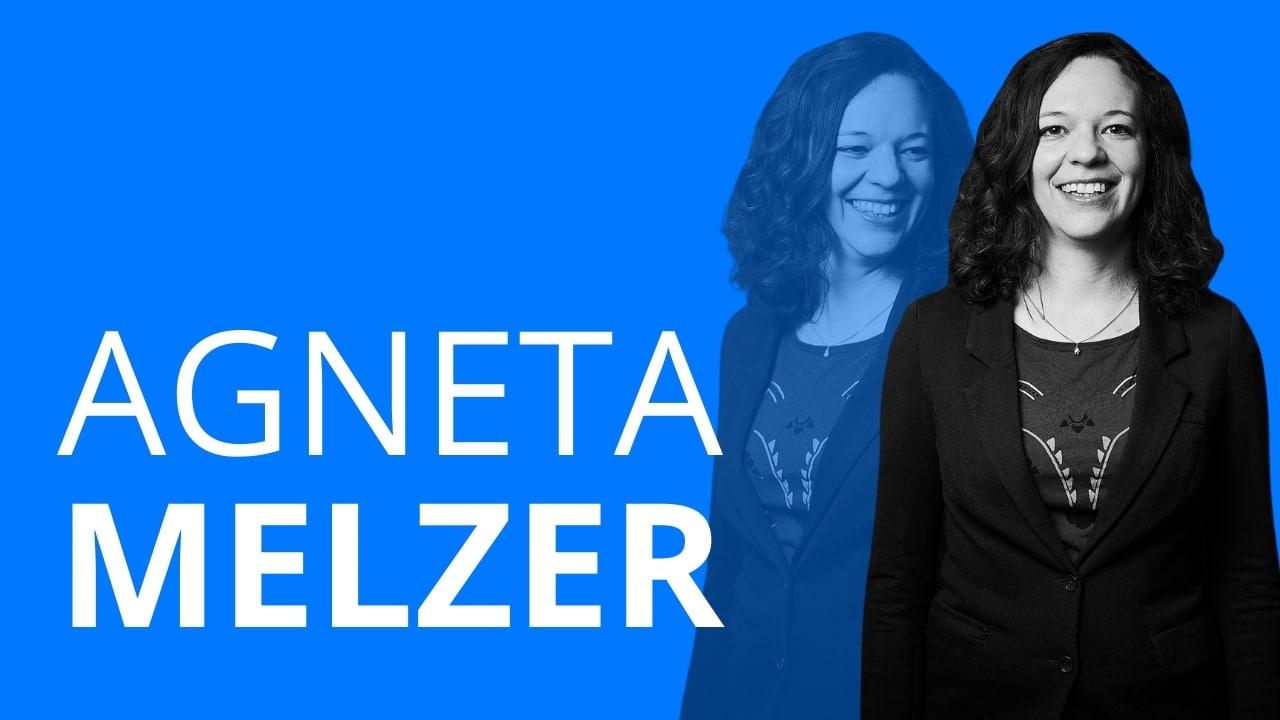 Das Bild zeigt Agneta Melzer, die viele Praktika absolvierte und dann statt Journalistenschule zu einer Agentur ging.