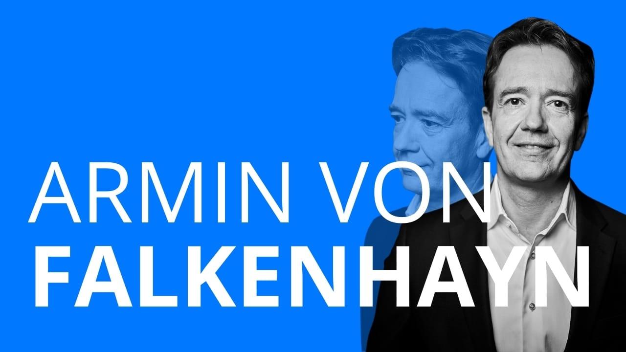 Das Bild zeigt Armin von Falkenhayn, der eigentlich Gartenarchitekt werden wollte und heute Investmentbanker ist.