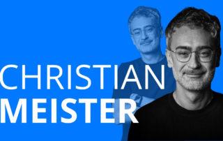 Das Bild zeigt Christian Meister, der in zwei Videointerviews über seinen Werdegang, Rückschläge und Panik erzählt.
