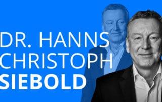 Dr. Hanns Christoph Siebold erzählt von seiner beruflichen Laufbahn und wie er nach seiner Ausbildung in der Bank bis in den Vorstand aufstieg